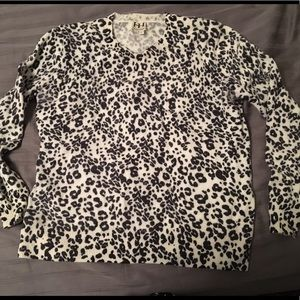 Haute Hippie leopard soft wool sweater